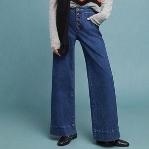 Anthropologie Pilcro Wide Leg Jeans. Size 27